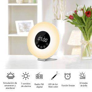 despertador con luz natural