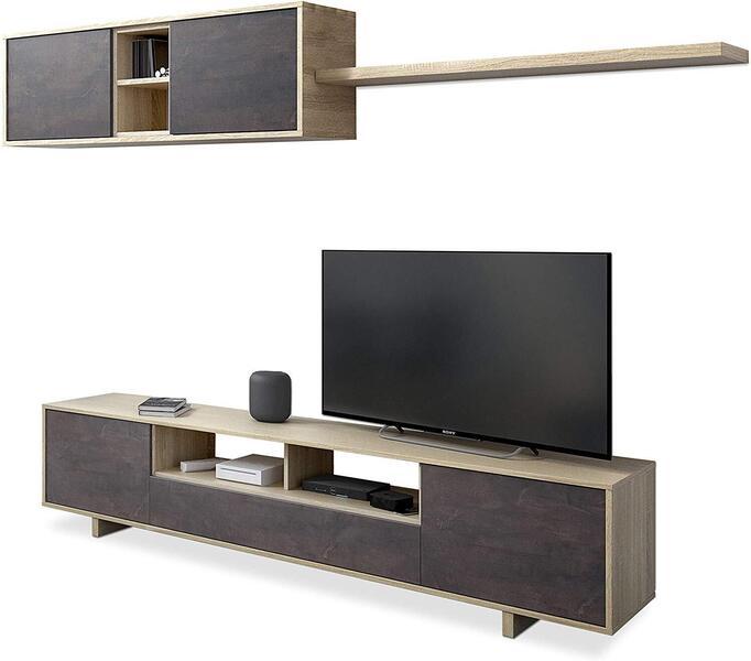 Mueble salón moderno Belus madera 2