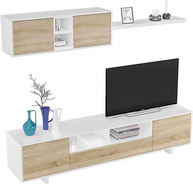 mueble salón moderno madera belus