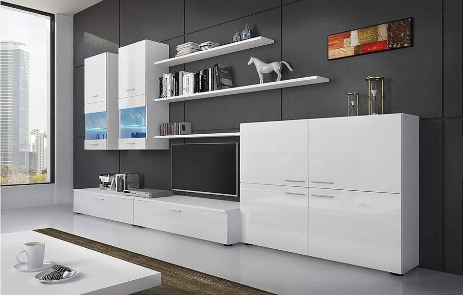 mueble de salón moderno blanco SelectionHome LED