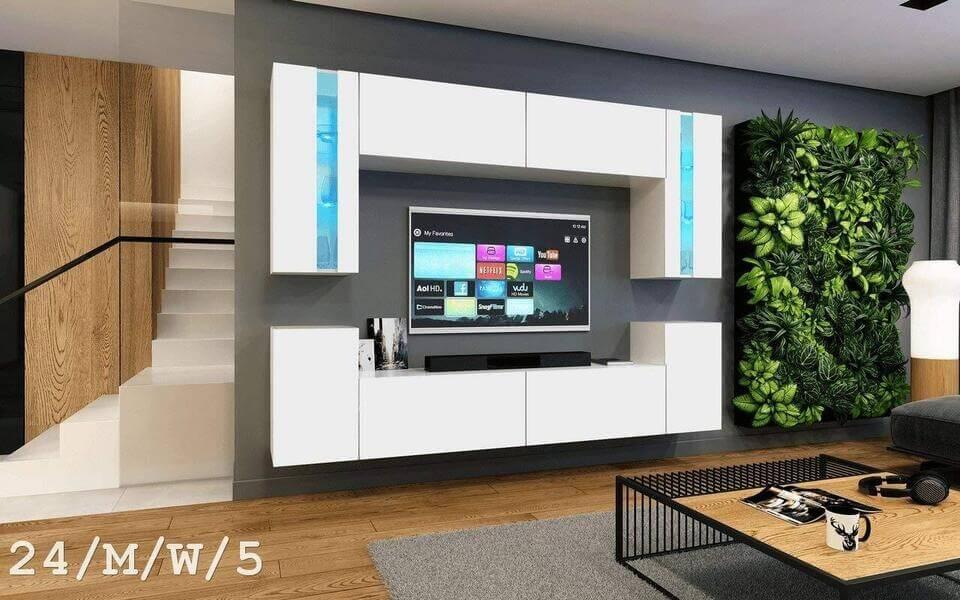 mueble de salon moderno blanco concept24