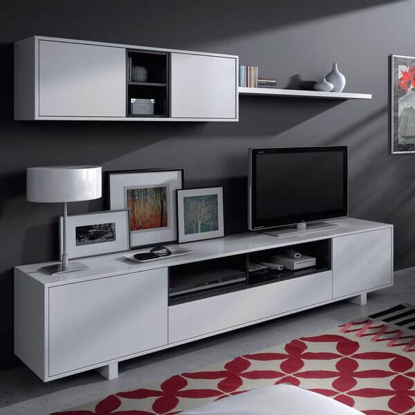 mueble salón moderno blanco habitdesign