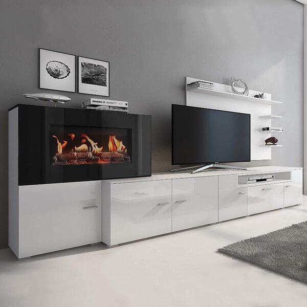 mueble de salón moderno blanco olympo