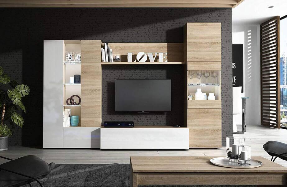 mueble de salón moderno de madera HabitDesign