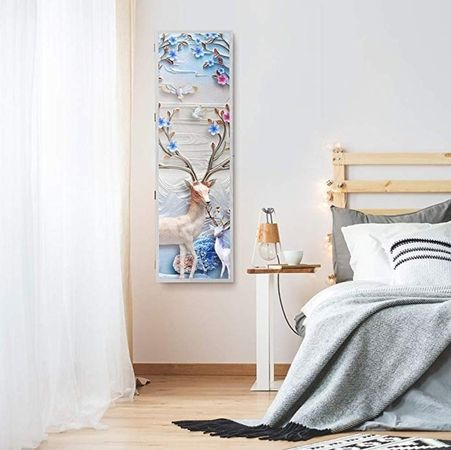 espejo joyero de pie barato con pintura en relieve Langria
