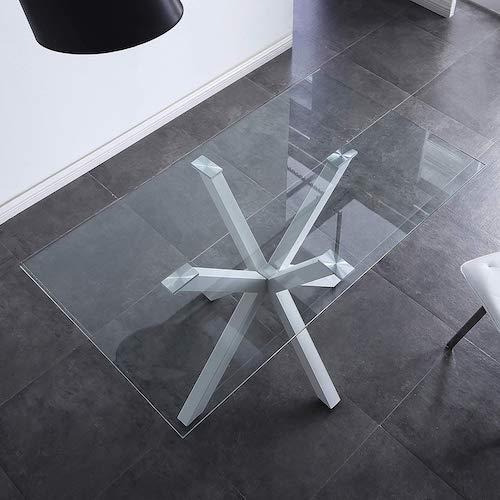 Mesa de comedor fija de cristal Adec