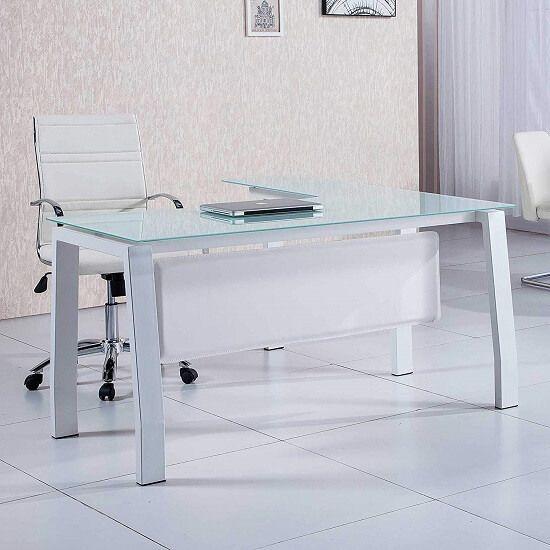 mesa de ordenador de cristal BLAKE