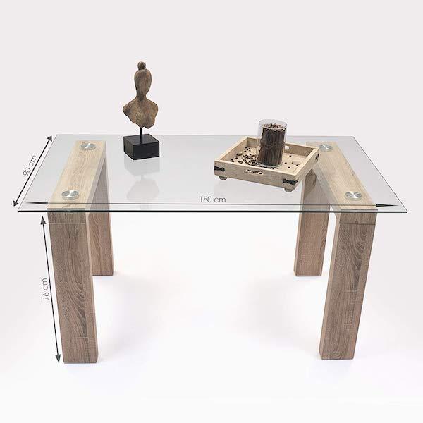 mesa de comedor fija de diseño Alba