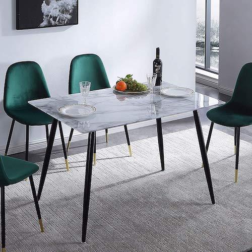 mesa de comedor fija efecto mármol