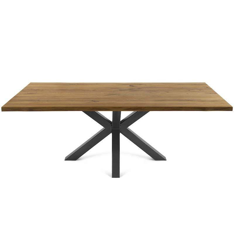 mesa de comedor fija estilo moderno industrial