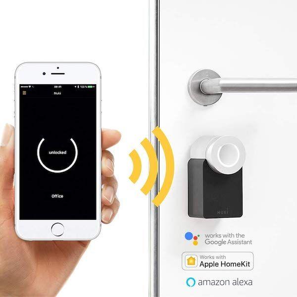 Cerradura electrónica inteligente Nuki alexa y apple kit