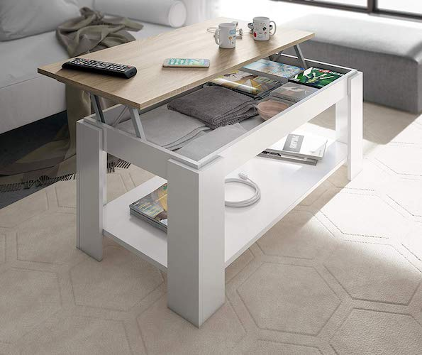 Mesa de centro con revistero HabitDesign