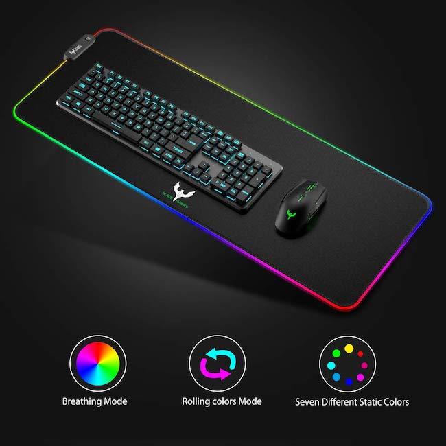 alfombrilla para escritorio gamer