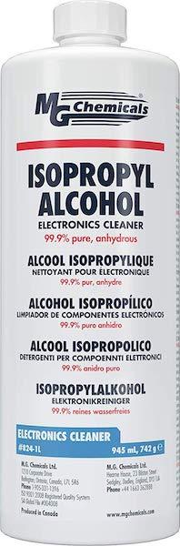 alcohol isopropílico Coronavirus