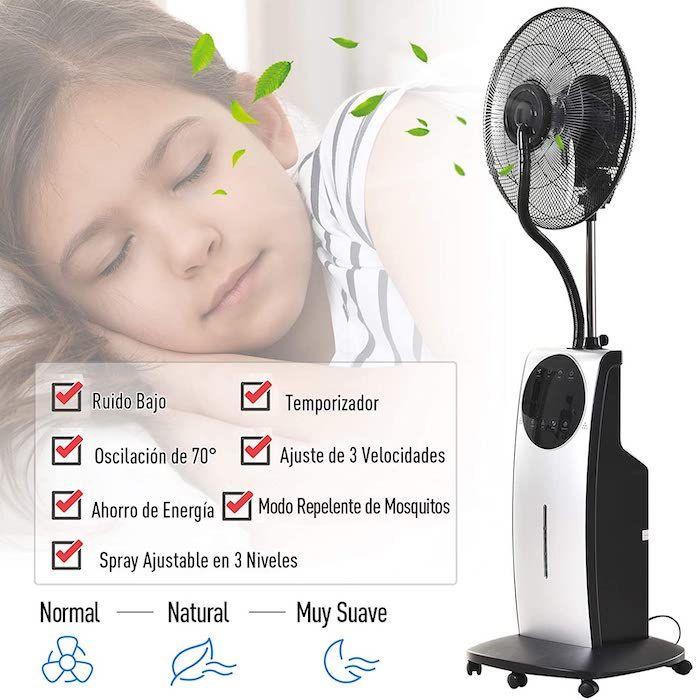 Ventilador nebulizador HomCom
