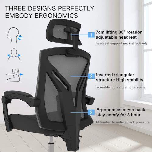 ergonomic office chair Hbada