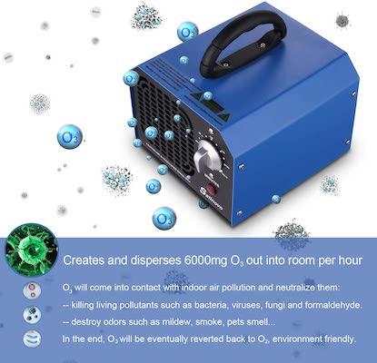 funcionamienrto generador de ozono