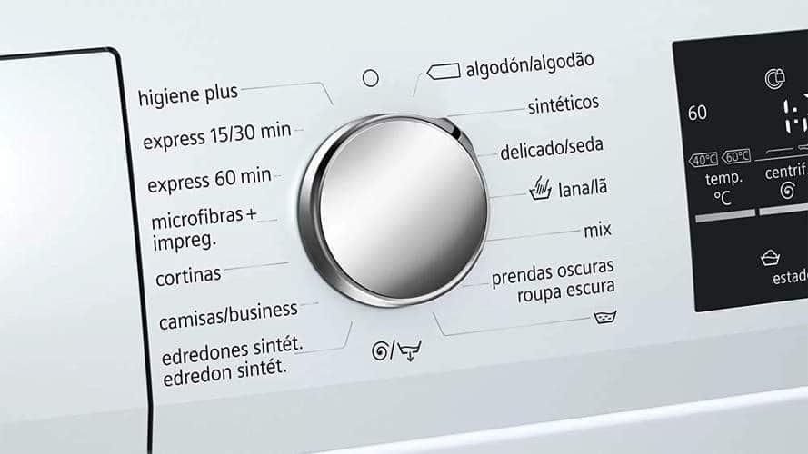 Mejores lavadoras programación Siemens