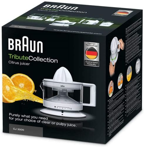 Mejores exprimidores eléctricos mas barato Braun CJ3000 WH