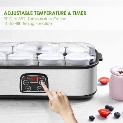 Mejores yogurteras electricas regulador temperatura Aicok
