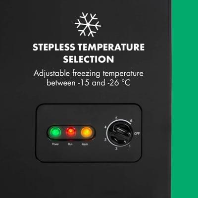 Ajuste temperatura congelador Klarstein Iceblokk