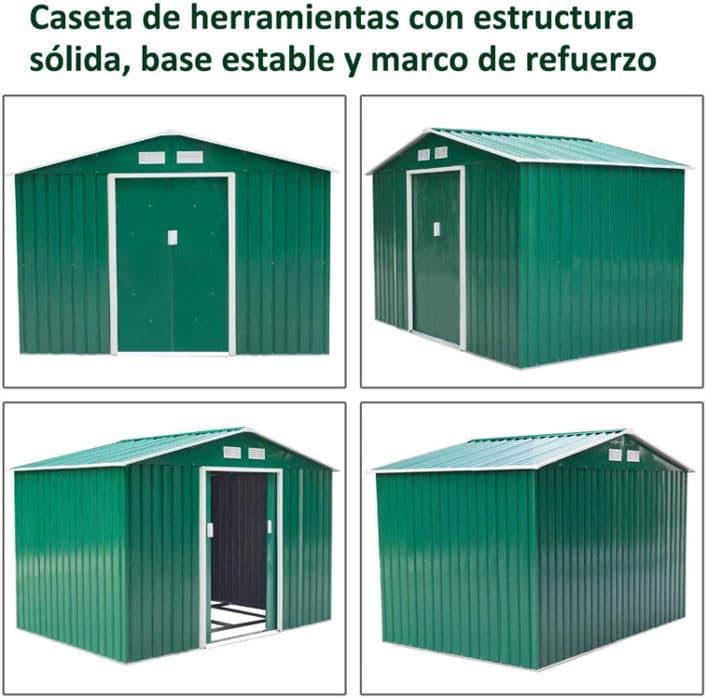 Caseta de jardín más barata Outsunny ES845-328GN0731
