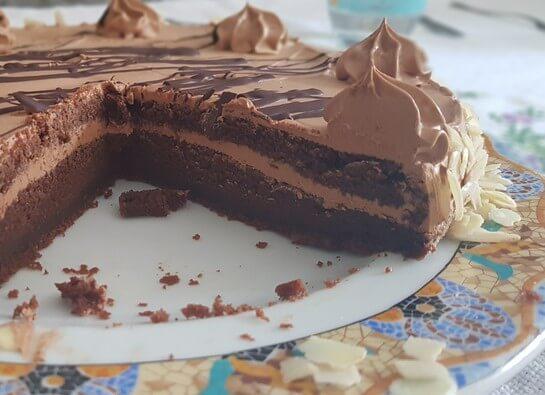 Tarta de chocolate con buttercream