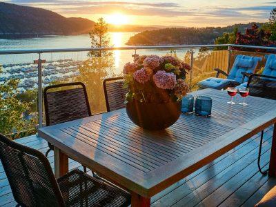 terraza puesta de sol
