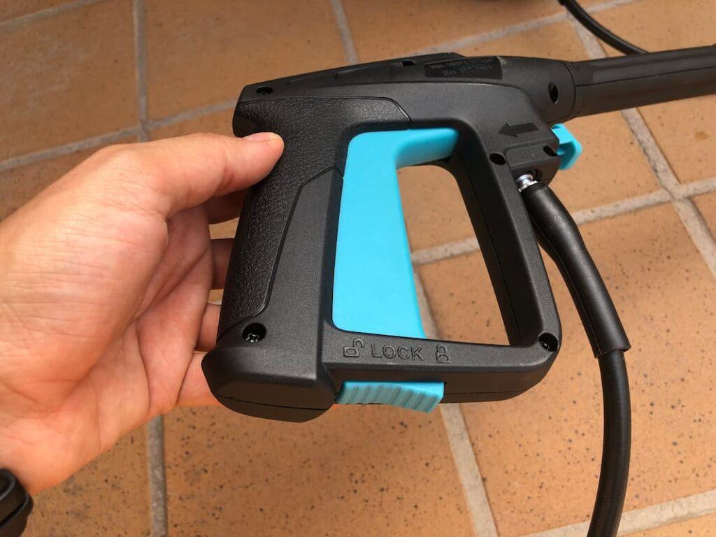 Gatillo de la pistola a presion de la hidrolimpiadora cecotec 1600