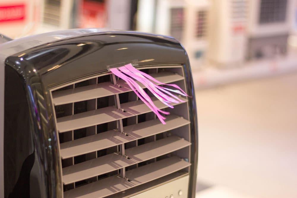 instalación de un aire acondicionado portatil