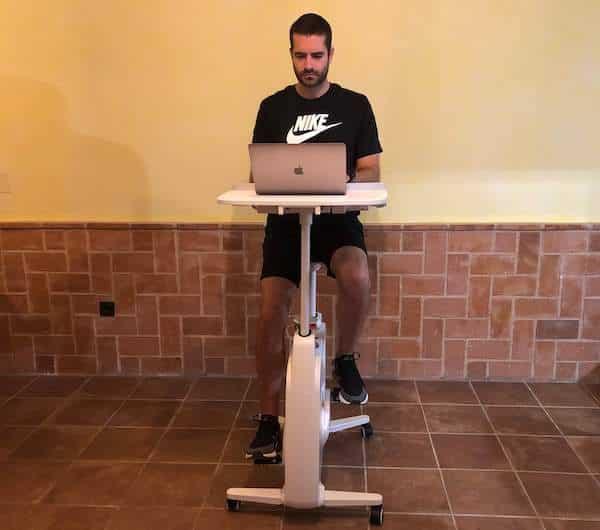 bicicleta con escritorio flexispot